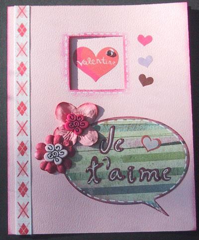 Carte de st valentin en scrapbooking exemple scrapbooking st valentin - Idee scrapbooking amour ...