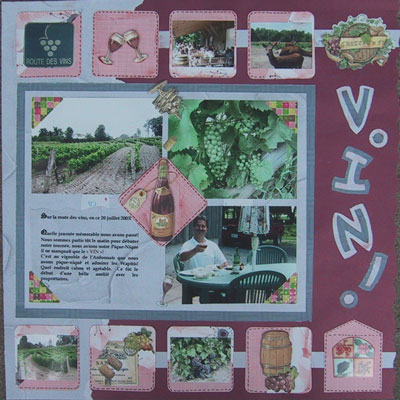 Photo album scrapbooking escapade week end id e scrapbooking canada - Idee album scrapbooking ...