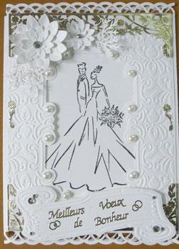 carte de scrapbooking pour mariage devant de carte