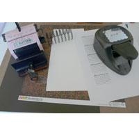 Calendrier 2010 en scrapbooking, matériel
