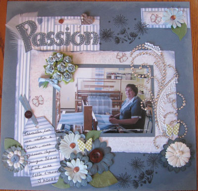 exemple page scrapbooking