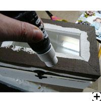 peinture paint dabber boite altérée scrapbooking