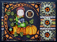 carte scrapbooking halloween