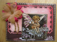 carte scrapbooking fée papillon