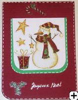 Carte de Noel bonhomme de neige scrapbooking