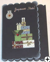 Carte de Noel avec papier Bazzilll basics scalopped
