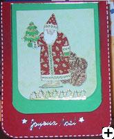 Cartes de Père Noel scrapbooking