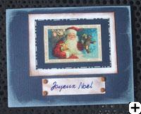 Carte de Père Noel scrapbooking
