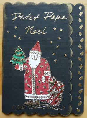 carte Noel scrapbooking