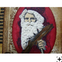 barbe du père noel en liquid applique carte scrapbooking