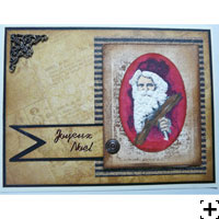 liquid appliqué Noël carte scrapbooking