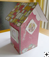 chipboard mini album maison scrapbooking