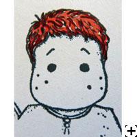recette Copic Sketch cheveux brun résultat final