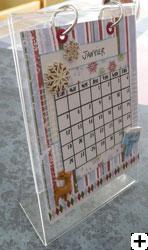 calendrier en scrapbooking