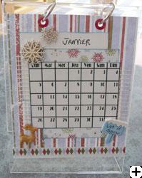 calendrier scrapbooking 2009
