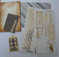 enveloppe décorée scrapbooking