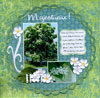 page scrapbooking automne