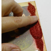 technique Adhésif scrapbooking glitter Ritz