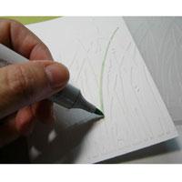 technique scrapbooking Quickie glue et glitter ritz