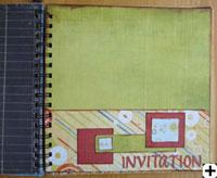 carte scrapbooking invitation
