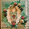 étampe et carte magnolia Tilda