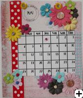 calendrier 2008 scrapbooking