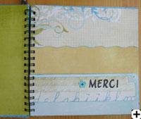 carte scrapbooking merci