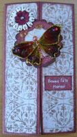 carte papillon prima scrapbooking