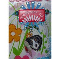 Déco St-Valentin Mini album acrylique scrapbooking