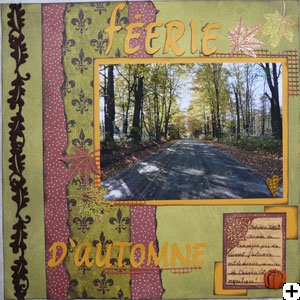 page double scrapbooking gauche