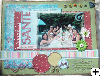 page de scrapbooking party estival