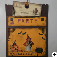 carte scrapbooking invitation Halloween