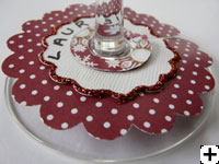 décoration coupe de vin scrapbooking