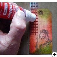 Projet peinture Dabber de Ranger scrapbooking