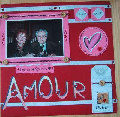 St valentin scrapbooking page de scrapbook quebec - Idee scrapbooking amour ...