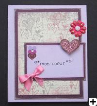 Carte de St-Valentin scrapbooking