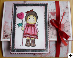 carte scrapbooking St-Valentin