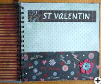 carte scrapbooking valentin