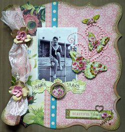 style shabby chic scrapbooking