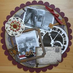 vintage ou héritage en scrapbooking