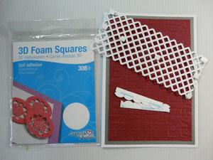 Montage 3D carte scrapbooking