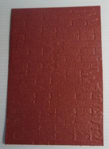 plaque d'embossage brique