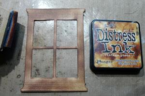 Découpe de fenêtre encre distress Vintage Photo
