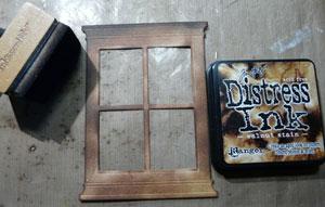 Découpe de fenêtre encre distress Walnut Stain