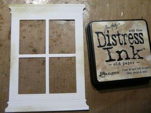 Découpe de fenêtre encre distress Antique Linen