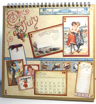 Calendrier Graphic45 mois juillet 13
