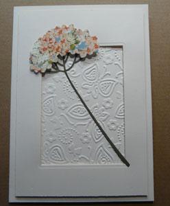 faire des fleurs avec un stylet ou outil d'embossage