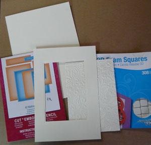 Montage carte scrapbooking