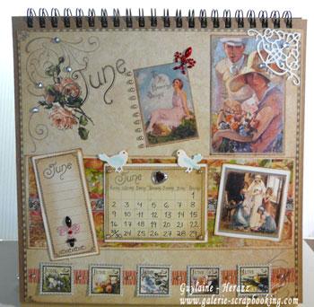 calendrier Graphic45 mois de juin