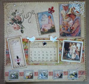 Graphic45 calendrier 8x8